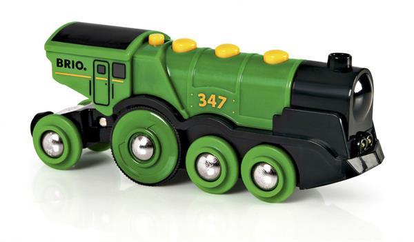 k u00f8b brio gr u00f8nt lokomotiv  batteridrevet billigt p u00e5 legen dk