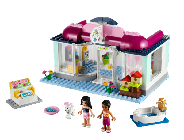 K b friends heartlake hundesalon billigt p for Lego friends salon de coiffure